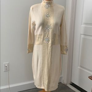 St. John evening embellished/ jeweled dress